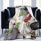 MODORSAN Manta Estampada con Estampado de Mariposas de Piedra,Ligera,60'x50',Mantas de Microfibra súper Suaves,Mantas para Cama,Manta para TV,Comodidad y Cuidado,Regalo
