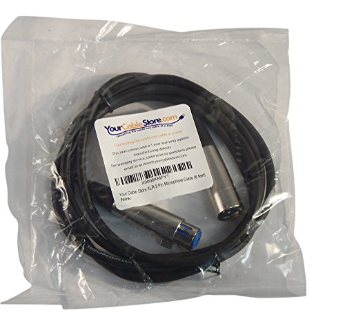 Your Cable Store XLR 3 Pin Microphone Cable (6 feet)