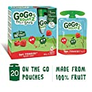 GoGo squeeZ Apple Strawberry Puree Pouches Multipack 20 x 90g