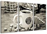 Starbucks Tasse 3-teilig auf Leinwand- Gesamtformat: 120x80