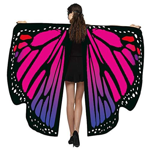Kriosey Damen Butterfly Wings Denn Schmetterling Schal Fee Cape Nymph Elf Kostüm Zubehör Schmetterlingsflügel Kostümzubehör Weihnachten Trenchcoat Im Freien Drachen Fliegen Mantel Schal
