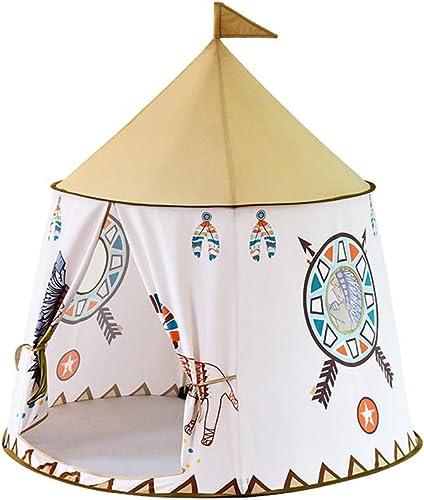 Nbibsaacy Chateau Tente Pop Up avec Design Amusant Tente d'enfants pour Jouer à l'extérieur comme à l'intérieur, Tente dépliable pour Filles et Garçons