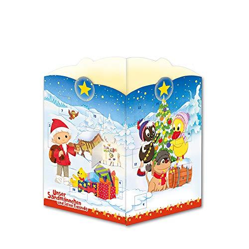 Trötsch Unser Sandmännchen Postkarte zum Aufstellen Windlicht-Adventskalender Sandmann: Karte Weihnachtskarte