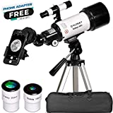 Telescope for Astronomy - Portable and Powerful 16x-120x Travel Scope - Easy to