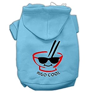 Mirage Pet Products Miso Cool Screen Print Pet Hoodies, Baby Blue, Small/Size 10