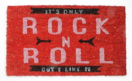 1art1 Música - It's Only Rock N Roll, Retro Style Felpudo Alfombra (70 x 40cm)