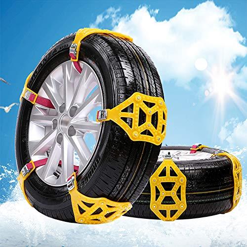 MASO 6 Stücke Schneeketten Einfach zu montieren Anti-Rutsch Reifen Schneeketten Universal für Pkw-Reifenbreite 165-285mm