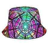 DXTDCMMe Notre Dame Glass Window Unisex Novelty Bucket Hat Fisherman Cap Sun Protection Hat