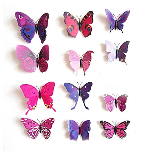 【Black Friday Promotion】upspirit 12 3D Papillon artificielle Aimants pour Réfrigérateur magnétique autocollants