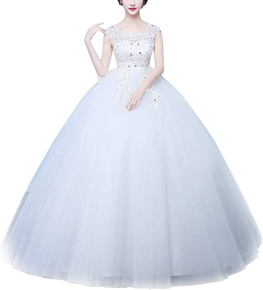 YOUTODRESS Beaded Wedding Ball Gown Max 90% OFF Max 43% OFF Sleeves with Brida for Flare