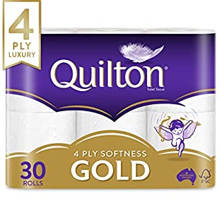 Quilton 4 Ply Toilet Tissue (140 Sheets per Roll, 11cm x 10cm), 30 count, Pack of 30 (B07KY7FDX7) | Amazon price tracker / tracking, Amazon price history charts, Amazon price watches, Amazon price drop alerts