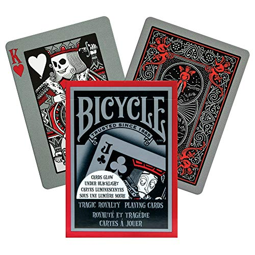 Bicycle 1018404 Tragic Royalty Leuchtende Spielkarten, Rot, Poker