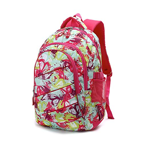 FKB@ED Middle School Student Backpack Children's Backpack Campus Backpack Lightweight Backpack Waterproof Multi-Function Backpack Comfortable/Red/Uniform Code