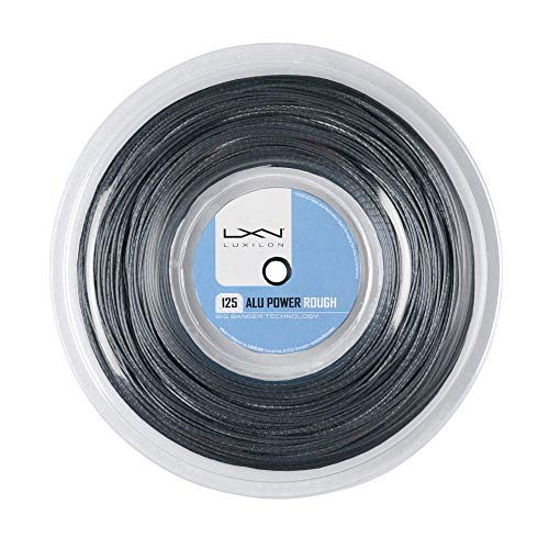 Luxilon Alu Power 125 Rough Cordaje de tenis, rollo 200 m, unisex, plateado, 1.25 mm