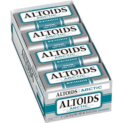 ALTOIDS Artic Mints, Wintergreen Singles Size 1.2 Ounce 8-Count Box by Altoids