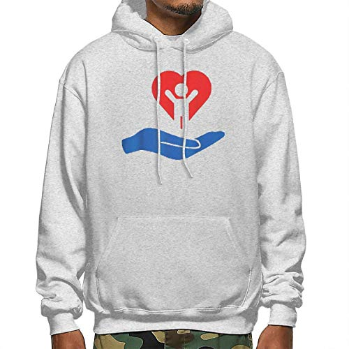 Tengyuntong Hombre Sudaderas con Capucha, Sudaderas, Men's Pullover Hooded Sweatshirt - My Hand Heart