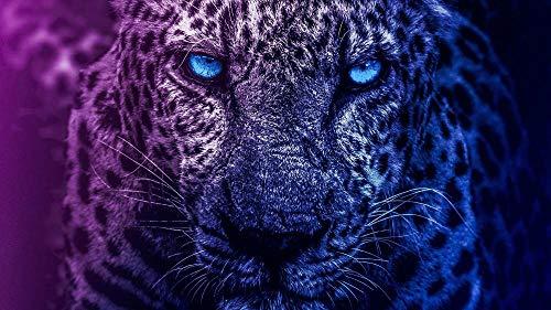 NOBRAND Rompecabezas De 1000 Piezas Blue Eyes Lion para Regalo Adulto