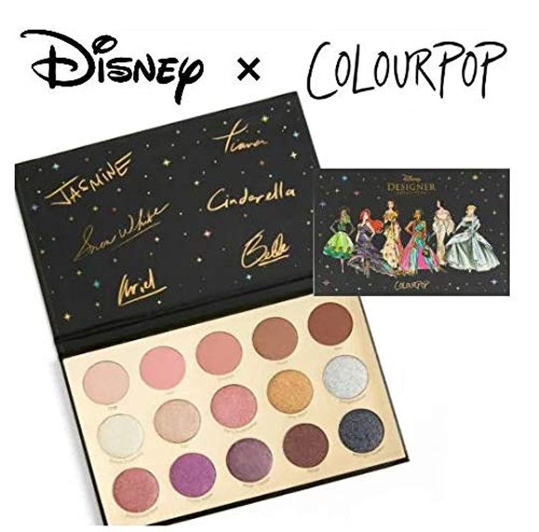 食事を調理するスーツケース喉頭ディズニーデザイナーコレクション カラーポップ COLOURPOP x DISNEYプリンセス アイシャドウパレット 15色