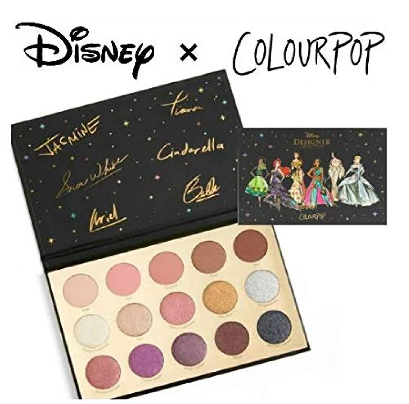 拘束する経過忌まわしいディズニーデザイナーコレクション カラーポップ COLOURPOP x DISNEYプリンセス アイシャドウパレット 15色