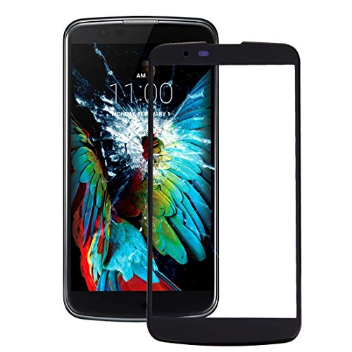 Dmtrab para Lente de Vidrio Exterior de Pantalla Frontal para LG K10 Partes de telefonía móvil (Color : Black)