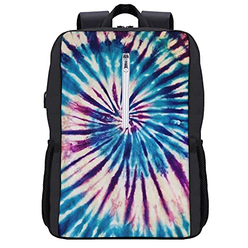 Zaino scolastico a spirale Tie Dye, stile borsa da viaggio per uomini e donne, leggero zaino universitario con scomparti per computer portatile