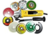 KROST Powerful 850W 801 Angle Grinder with Cutting/Grinding Wheels, 4 Inch, Yellow