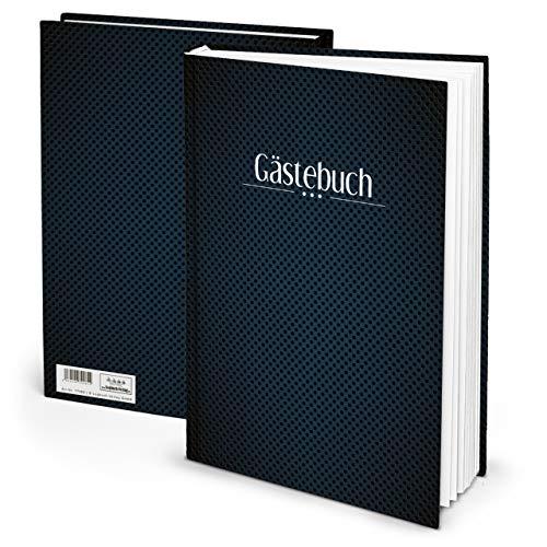 Edles Gästebuch klassisch modern DIN A4 blau dunkelblau schwarz Punkte 164 Seiten Geburtstag Event...