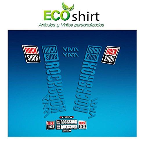 Ecoshirt O2-YBGV-DIK1 Pegatinas Stickers Fork Rock Shox...