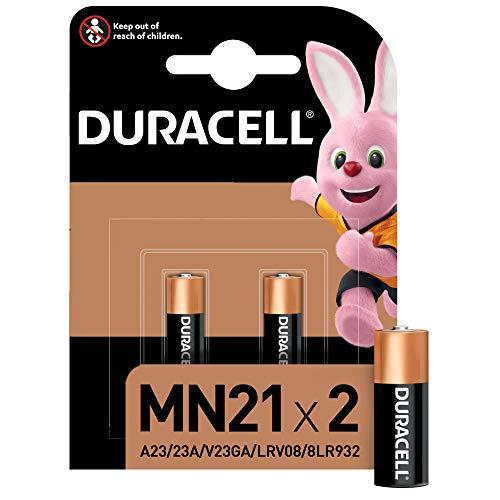 Duracell Pilas especiales alcalinas MN21 de 12V, paquete de 2 unidades A23/23A/V23GA/LRV08/8LR932,...
