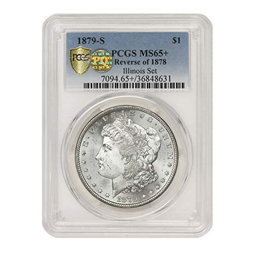 1879 S Reverse of 1878 American Silver Morgan Dollar MS-65+ PQ Approved Illinois Set by CoinFolio $1 MS65+ PCGS
