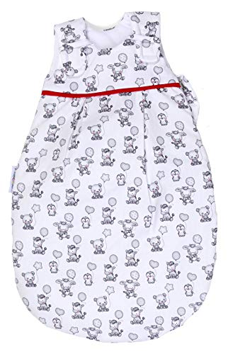 Babyschlafsack von Picosleep Ballonparty weiß mit Tiermotiven Baumwolle (74/80)