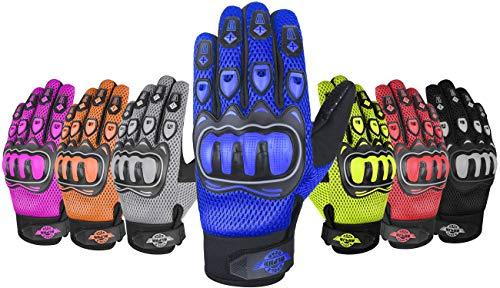 ALPHA CYCLE GEAR MOTO SPORTS GLOVES (BLACK/BLUE, SMALL)