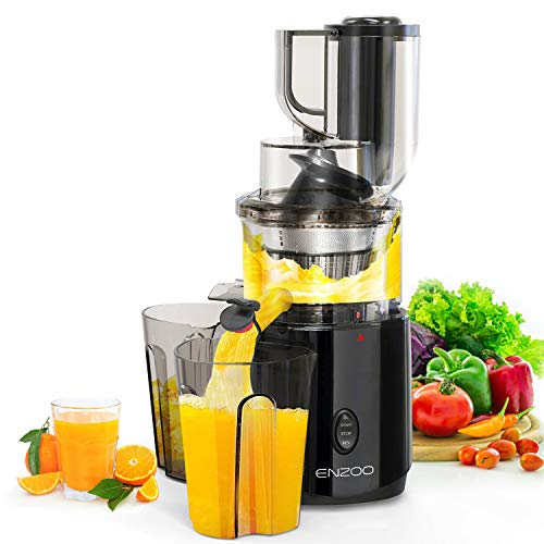 Juicer Machines, ENZOO Slow Masticating Juicer, Slow Cold Press Juicer Extractor,...