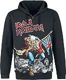Iron Maiden The Trooper - Battlefield Hombre Capucha con Cremallera Negro M