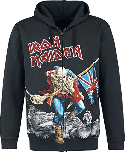 Iron Maiden The Trooper - Battlefield Sudadera capucha con cremallera Negro M
