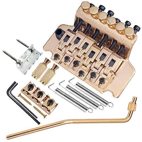 micity Ersatz E-Gitarre Tremolo Brücke für Double Locking Floyd Rose Stratocaster Strat Assemly gold