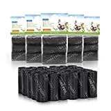 Nobleza - 1080 Conde Bolsas de Caca Perro Bolsas para excrementos de Perros Pack de 72 Rollos. Color Negro(24)