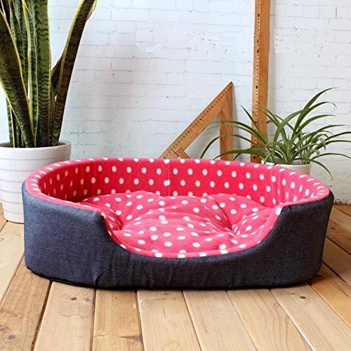 PENVEAT Haustier Zwinger Haus warme große Hundebett Katze Kissen Mat Sofa für große Hunde Cama para Cachorro Welpen Teddy Sofa SML XL Größe, Wassermelone rot, 60 cm x 45 cm x 17 cm