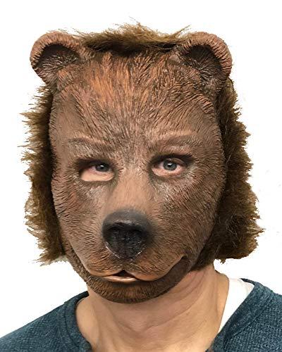 Zagone Studios Mscara de disfraz de cachorro de oso marrn