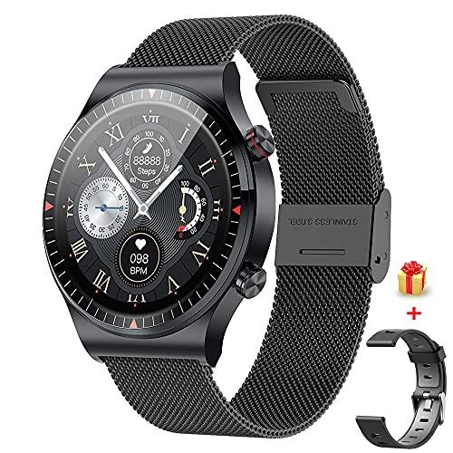 GaWear Smartwatch Fitness Smart Watch IP67 a Prueba de Agua, 4 GB de Memoria Interna de música para Deportes, 8 Modos de Entrenamiento, podómetro, Monitor de sueño, Hombres, Mujeres (Negro)