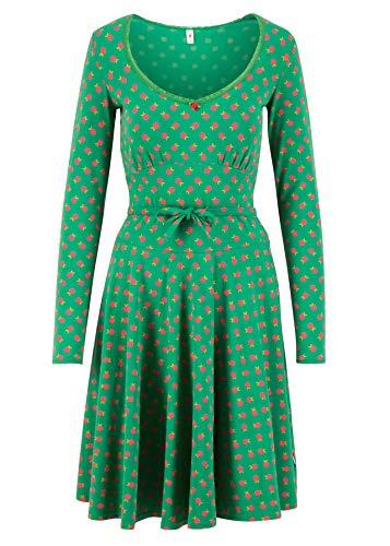 Blutsgeschwister Damen Kleid ode to The Woods Dress Midi- Kleid Single-Jersey Grün XS