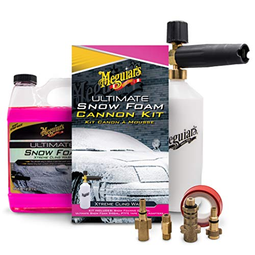 Meguiar's G194000EU Ultimate Car Snow Foam Cannon Lance Kit Kärcher compatible Nilfisk compatible Bosch compatible