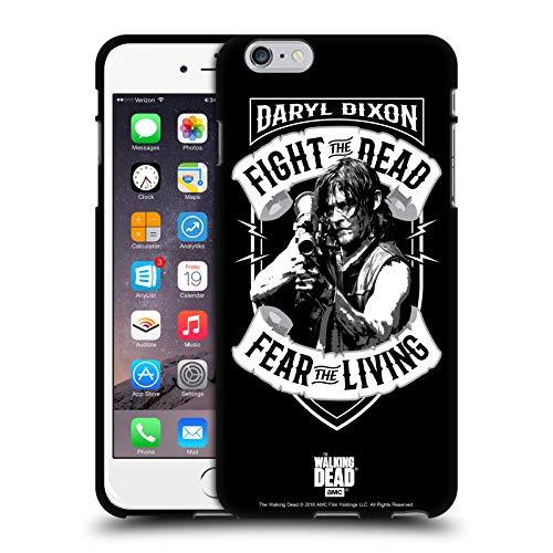 Head Case Designs Oficial AMC The Walking Dead RPG Negro Blanco Daryl Dixon Biker Art - Arte para Bicicleta Funda de Gel Negro Compatible con Apple iPhone 6 Plus/iPhone 6s Plus