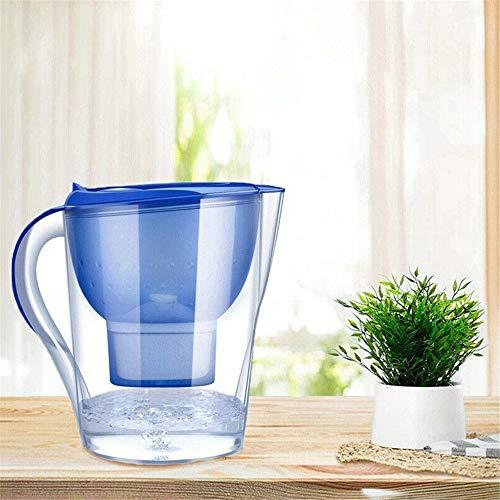 HUKOER Ketel met Lange levensduur Filter Alkaline Water Filter Purifier Water Filtr 3.5L Water Filter Jug Navy Blauw