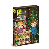 Erzi 28254 Adventskalender mit 24 Überraschungen aus Holz für Kaufladen