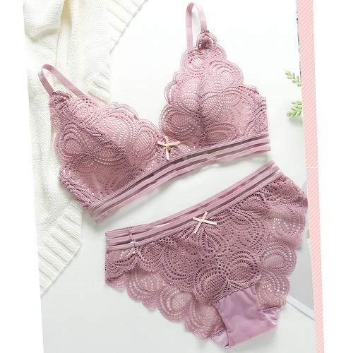 Z-Y Erotisch ondergoed Sexy Lace Floral Bra For Women Lingerie Set Gecorrigeerd Comfort naadloze ondergoed set draadloze push up bh en slipje Set #z