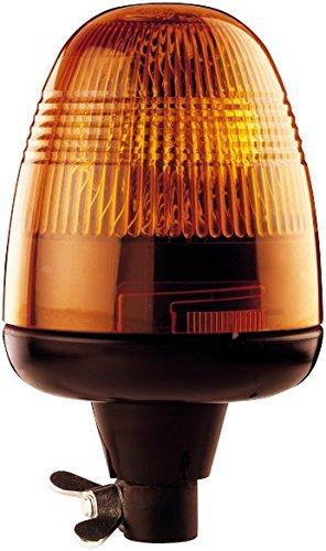 HELLA 2RL 006 846-011 Rundumkennleuchte - KL Rotaflex - Halogen - H1 - 24V - Lichtscheibenfarbe: gelb - Rohrstutzen