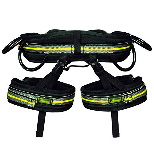 IhDFR Climbing Harness, Oumers Safe Seat Belts for Mountaineering Tree Climbing Outdoor Training Caving Rock Climbing Rappelling Equip - Half Body Guide Harness (Size : L)