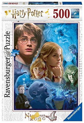 Ravensburger Puzzle, Puzzle 500 Piezas, Harry Potter en Hogwarts, Puzzles para Adultos, Harry Potter Puzzle, Rompecabezas Ravensburger de Alta Calidad