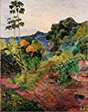 DIY Pintar por números para Adultos e niños - Cuadros famosos de Paul Gauguin Martinica- Kit de pintura al óleo digital para decoración de pared